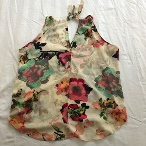 New York and Company Floral Tank Top